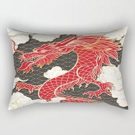 Chinese Red Dragon Rectangular Pillow