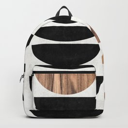 Mid-Century Modern Pattern No.7 - Concrete and Wood Backpack