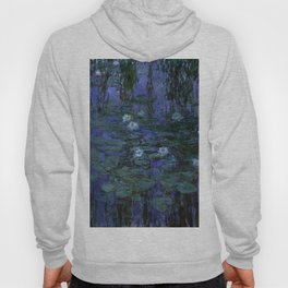 Blue Water Lilies Monet 1916- 1919 Hoody