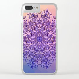 Mild Mandala Clear iPhone Case