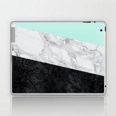 Green white black marble texture Laptop & iPad Skin