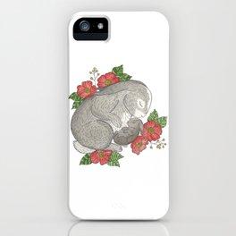 Momma & Baby Bunny iPhone Case