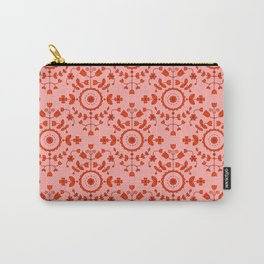 Boho Floral - Orange Carry-All Pouch