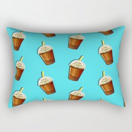 Iced Coffee To Go Pattern Rectangular Pillow