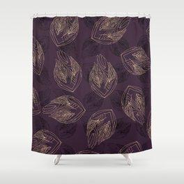 Flowa maroon Shower Curtain
