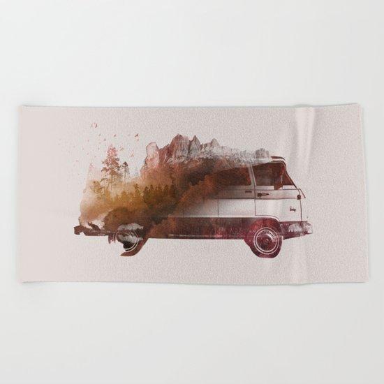 Drive me back home Beach Towel