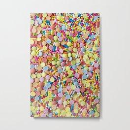 Rainbow Candy Sprinkles Metal Print
