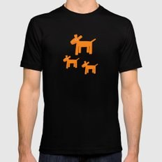 Dogs-Red Mens Fitted Tee Black MEDIUM