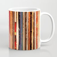 vinyl Mugs featuring Vinyl by bomobob