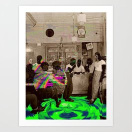the Tempo of Bottoms up Art Print