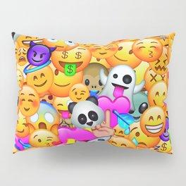 I love Emojis Pillow Sham
