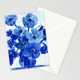 blue stillife Stationery Cards