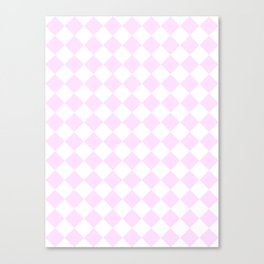 Diamonds - White and Pastel Violet Canvas Print