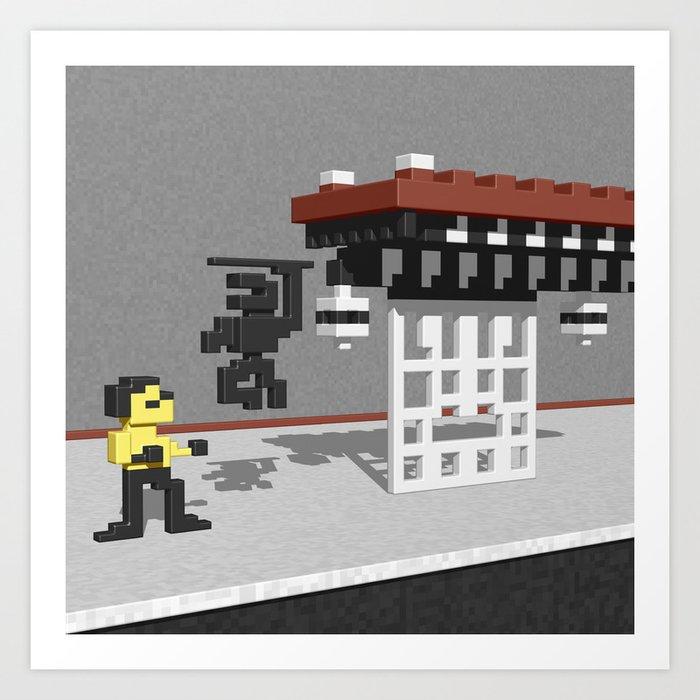 BruceLee Commodore 64 game tribute Art Print