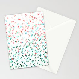 Confetti Basket Red Green Turquoise Stationery Cards
