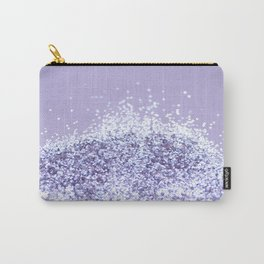 Sparkling Violet Glitter #1 #sparkling #decor #art #society6 Carry-All Pouch