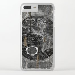 Treasure Map Clear iPhone Case