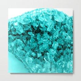 Sparkling Aqua Amethyst Metal Print