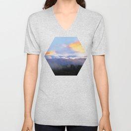 Sunset and cloud drape Unisex V-Neck