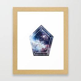 Pentagon Universe Framed Art Print