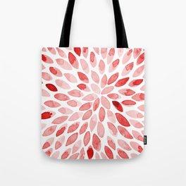 Watercolor brush strokes - red Tote Bag