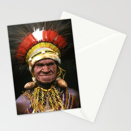 Papua New Guinea Chief's Headdress Stationery Cards