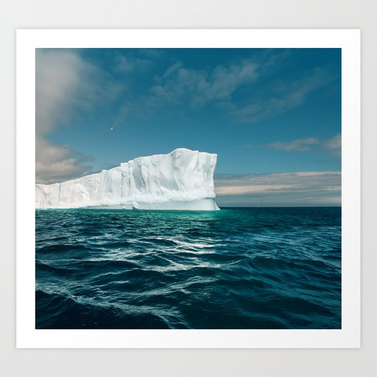 North Atlantic Iceberg Art Print