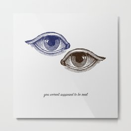 Eyes Both Brown and Blue Metal Print