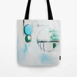 No. 12 Blue Emerald Ombre Pastel Abstract Painting  Tote Bag