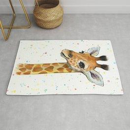 Baby-Giraffe-Nursery-Print-Watercolor-Animal-Portrait-Hearts Rug