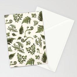 Green Fern Medley Stationery Cards