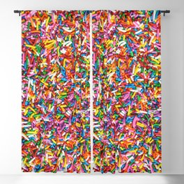 Rainbow Sprinkles Sweet Candy Colorful Blackout Curtain