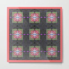 Badass Tripadelic Geometric Modernism Metal Print