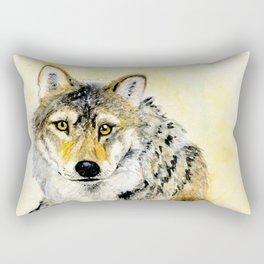 Totem Grey wolf Rectangular Pillow