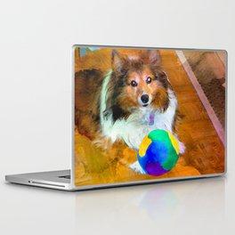 Sheltie with Ball Laptop & iPad Skin