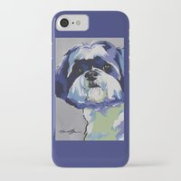 shih tzu iPhone & iPod Cases featuring Shih Tzu Pop Art Pet Portrait by Karren Garces Pet Art