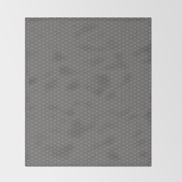 Pantone Pewter Double Scallop Wave Pattern Throw Blanket
