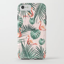 Tropical Flamingo Pattern #2 #tropical #decor #art #society6 iPhone Case