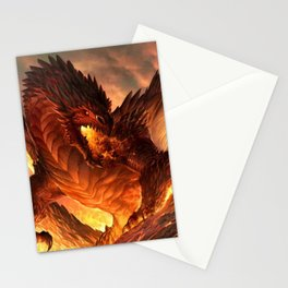 Fire Dragon Stationery Cards