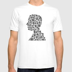 Untitled Silhouette in Reverse. MEDIUM White Mens Fitted Tee