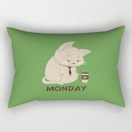 Monday Cat Rectangular Pillow