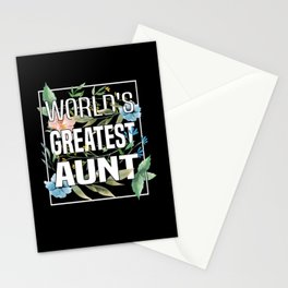 Aunt Flowers Patented Floral Spring Pregnant Stationery Cards