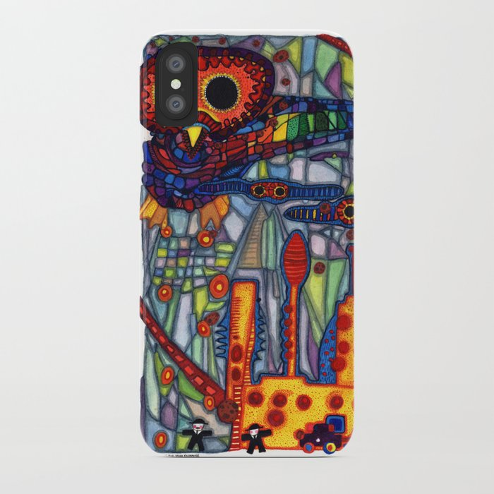 Owls Over The Stock Exchange iPhone Case