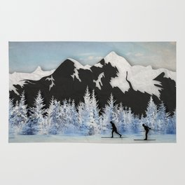 Cross Country Skiing Rug