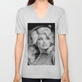 Dolly Parton Canvas Print, Country Music Art, Christmas Poster, Custom Canvas, Wall Art, Wall Hanging, Custom Poster, Gift For Friend Unisex V-Neck