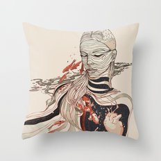 TRAWLING Throw Pillow