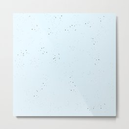blue speckled Metal Print