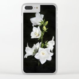 White bell Clear iPhone Case
