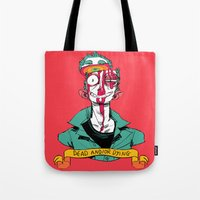 musa Tote Bags featuring dead and/or dying by musa