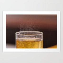 Fizzy Amber Drink in Glass Art Print